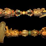 Divine Focus 法器金刚杵,44 x 8 cm, Late Qing Dynasty 晚清  Divine Focus 法器金刚撅,31 x 11 cm, Mid Qing Dynasty 清中期