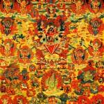 Tangka 普巴金刚与洛格津母,Natural Mineral Pigments on Cloth 布面天然矿物颜料绘制,110 x 118 cm, Mid Qing Dynasty 清中期
