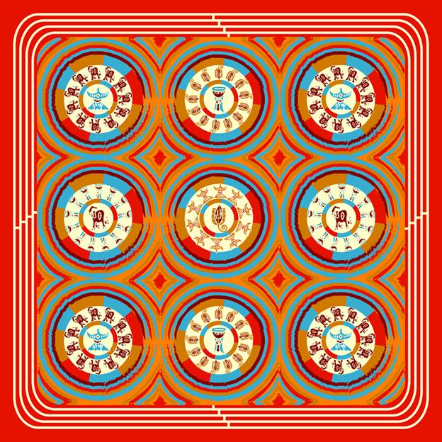 阿非利加系列 NO.2小方巾