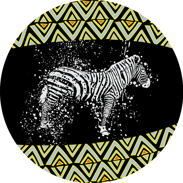 非洲动物系列隔热杯垫3
