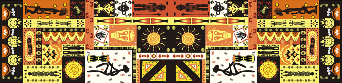 Ngoma系列太阳纹长巾